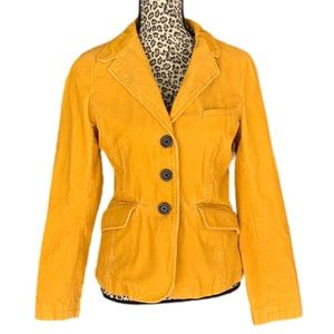 Yellow corduroy lined jacket size 10